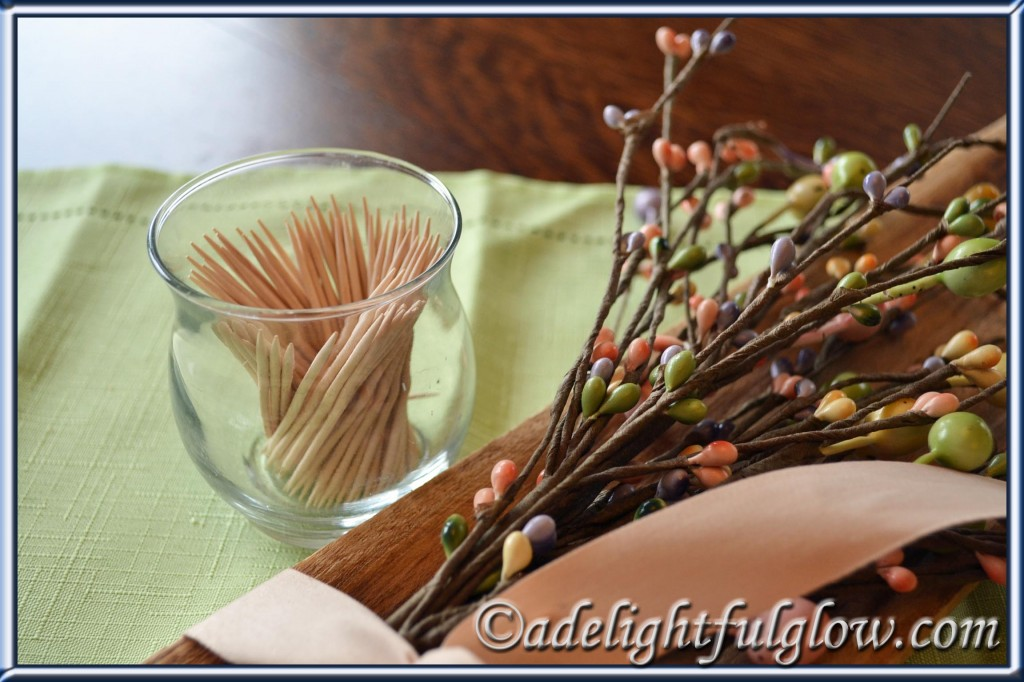 Use a votive candleholder for toothpicks!