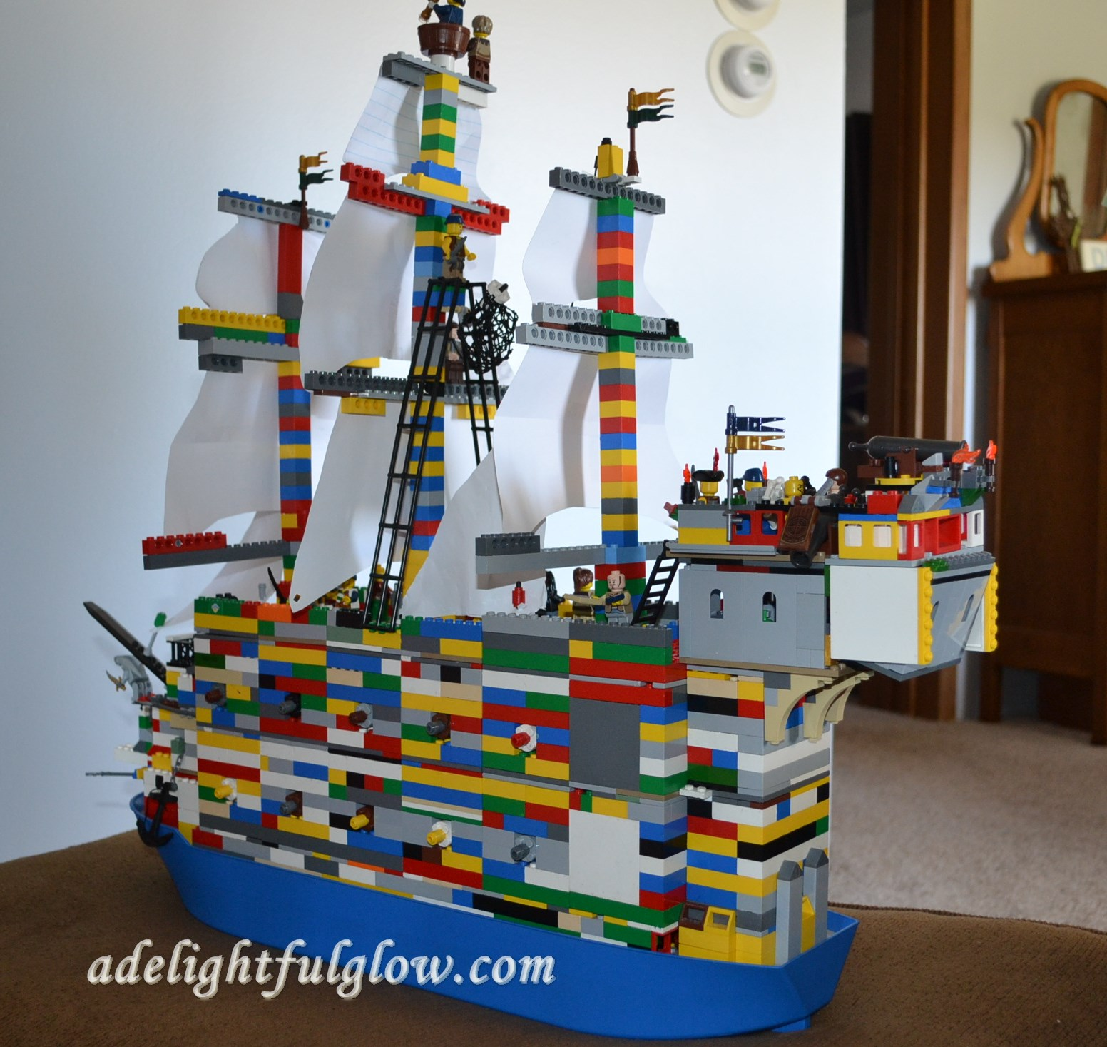 Lego Pirate Ship A Delightful Glow