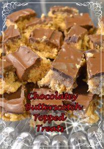 Chocolatey Butterscotch Topped Treats