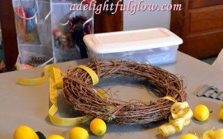 Summertime Yellowy Lemon Wreath