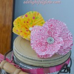 More Cupcake Liner Flower Fun