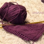 Yarn Along {Purple Dishcloth and Eleanor Estes}