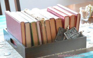 Books Tablescape