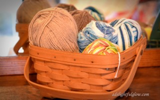 Yarn Along {Poem and Breaking Busy}