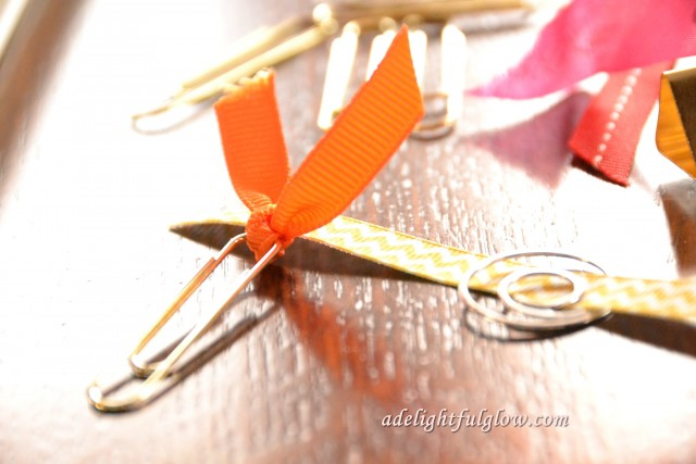 Ribbon Embellished Paper Clips