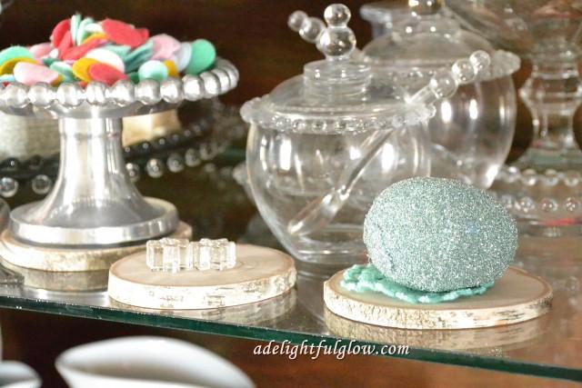 Glass Glittered Eggs