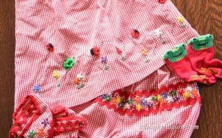 Yarn Along {And Baby Dress}
