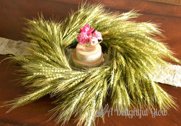 DIY Wheat Wreath