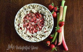 Styled Strawberry Rhubarb Pie