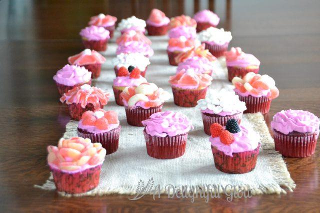 Flower Cupcakes Display