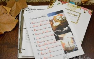 Free Thanksgiving Menu Printable and Gratitude Page Printable
