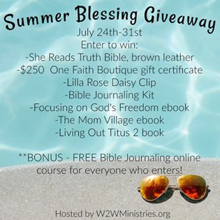 Gifts That Keep On Giving and Summer Blessing 2017 Giveaway