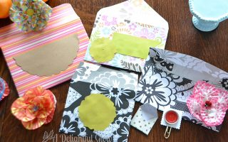 Envelopes, Paper Clips and Flowers