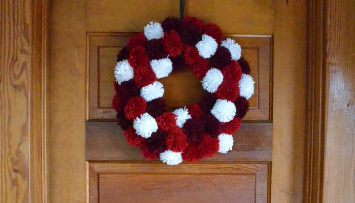 Pages and Projects {My Little Words Devotional and Christmas Pom-Pom Wreath}